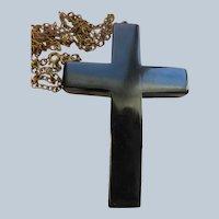 Vintage Bakelite Cross Necklace