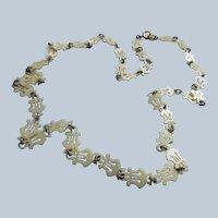 Vintage Celluloid Lyre Chain Necklace