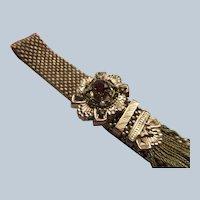 Victorian Antique Mesh Slide Bracelet in Gold Fill