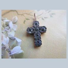 Antique Paste Cross Charm Pendant