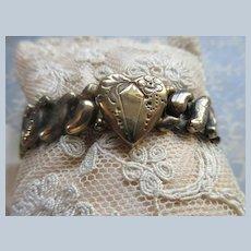 Vintage Co Star Tiny Expandable Heart Bracelet