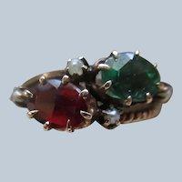 Victorian Antique 10K Doublet Ring