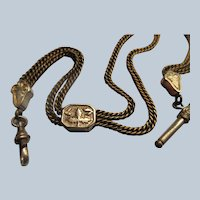 Victorian Antique Pocket Watch Chain in Gold Fill