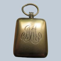 Antique Monogrammed Locket In Gold Fill Initial C