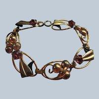 Vintage signed Star Art Gold Fill Bracelet