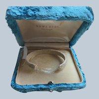 Antique Velvet Bracelet Box Rowe Bros. Chicago