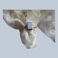 Victorian Antique 10K Agate Ring