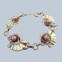 Vintage Retro Harry Iskin Bracelet in Gold Fill