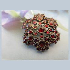 Victorian Antique Bohemian Garnet Pin