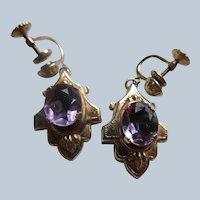 Victorian Revival Circa 1930 Screw Back Earrings