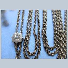 Victorian Antique Ladies Watch Chain Slide Chain in Gold Fill