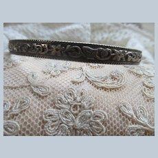 Vintage Sterling Silver Danecraft Felch Bangle Bracelet