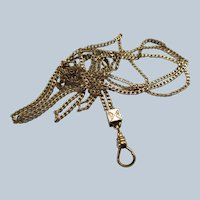 Victorian Pocket Watch Slide Chain in Gold Fill