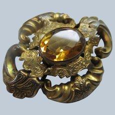 Victorian Antique Gold Fill Brooch