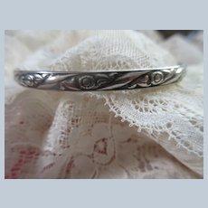 Vintage Sterling Danecraft Felch Bangle Bracelet