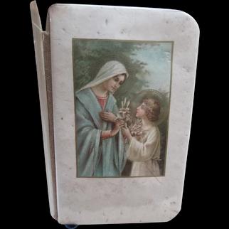 Older Vintage Celluloid Prayer Book in Polish