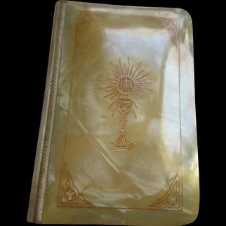 Vintage circa 1939 Celluloid Prayer Book