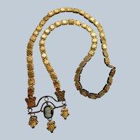 Victorian Antique Cameo Book Chain Necklace