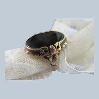 Older Vintage 10K Black Onyx Ring