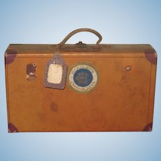 FABULOUS Antique Candy Container Miniature Suitcase for FASHION DOLLS!