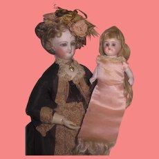 """SALE! NOVELTY Factory Original Antique German Kestner 5"""" All Bisque Needle Holder Doll!"""