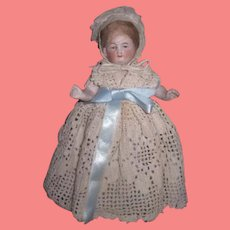 """SO SWEET Large Size 6"""" Antique German Kestner All Bisque Girl Doll~GREAT Outfit!"""