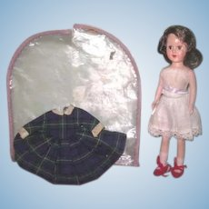 """FABULOUS Rare Vintage 8"""" Richwood Sandra Sue Doll with Factory Original Dress in TAGGED Garment Bag!"""