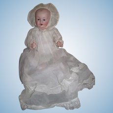 "ADORABLE 12"" Cabinet Size Antique Franz Shmidt Bisque Head Character Baby Doll!"