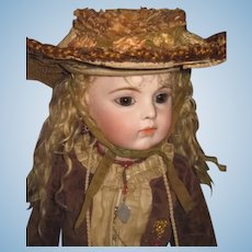 SALE! Fabulously Fancy Antique Couture Straw Doll Hat for Bru/Jumeau Bebe!
