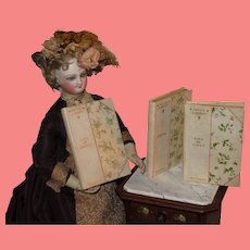"""BEAUTIFUL Set of Three Antique """"Petite Library"""" Miniature Books for DOLL DISPLAY!"""