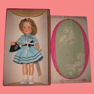 """INVENTORY SALE! Exceptional 15"""" MIB Vintage Ideal Toy Company Vinyl Shirley Temple Doll with ACCESSORIES!"""