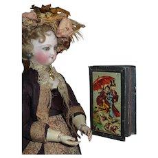 SWEET Circa 1882 Antique Victorian Children's Miniature Slate Book!