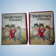 """CHARMING First Edition Circa 1923 """"Tom Mittens Cousins"""" Illustrated Children's Book with ORIGINAL BOX!"""