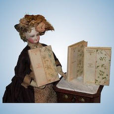 "SALE! Beautiful Set of Three Antique ""Petite Library"" Miniature Books for DOLL DISPLAY!"