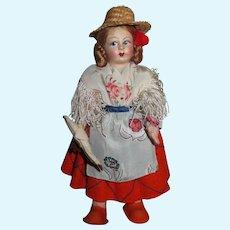 "PRECIOUS  9"" All Original Vintage Italian Cloth Doll!"