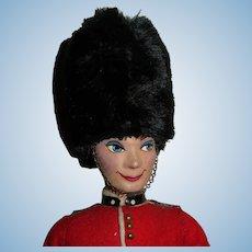 "DAPPER All Original 13 1/4"" Vintage Isle Ottenberg Painted Face English Guard Doll"