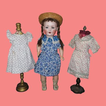 "SALE! Adorable 20"" Antique German Bahr & Proschild Character Child Doll with Original Wardrobe!"