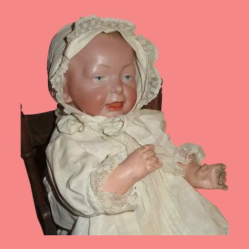 "EXCEPTIONAL 14"" Antique German K & R ""Kaiser"" Baby in Exquisite Christening Ensemble!"
