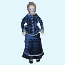 "MAGNIFICENT Paris Boutique Original 12 1/2"" Painted Eyed Original French Fashion Doll by Francois Gaultier!"