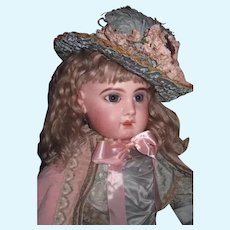 """SPECIAL PRICE! Magnificent Rare Large 28"""" Antique Size 13 French EJ Jumeau Bebe in Couture Outfit~A SHOWSTOPPER!"""