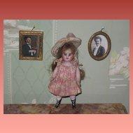 """Sale~CHARMING Pair of Victorian Miniature """"Instant Ancestors"""" Ormolu Portrait Dollhouse Pictures!"""
