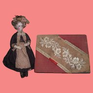 CHARMING Fancy Victorian Lady's Traveling Lap Desk~AS FOUND!