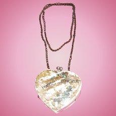 SALE! Charming Vintage Miniature Heart Shaped Souvenir Shell Purse!