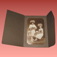 SWEET Old Cabinet Photograph of Two Little Girls~First Communion?