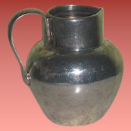 SUPERB Hallmarked Circa 1900 British Sterling Silver Miniature Water Pitcher for FASHION DOLLS!