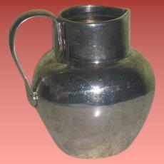 SUPERB Hallmarked Circa 1900 British Sterling Silver Miniature Water Pitcher for FASHION DOLLS!
