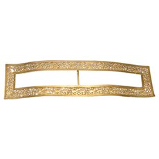 UNIQUE Large Vintage Edwardian Ormolu Brass Lady's Fancy Belt Buckle!