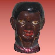 RARE Antique C.D. Kenny Miniature Porcelain Black Memorabilia Match Holder!