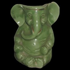 CHARMING Rare Antique C.D. Kenny Company Miniature Porcelain Elephant Figurine Match Holder! - Red Tag Sale Item