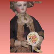 3 of 3!~SWEET Vintage Miniature Hand Painted Shell Art Floral Bouquet for Fashion Dolls